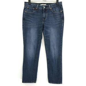 Levi's BOYFRIEND Crop Jeans Womens Sz 27 Blue Med